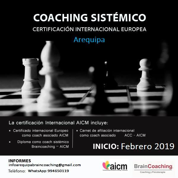 Coaching Sistémico. Arequipa. Certificación  Europea AICM