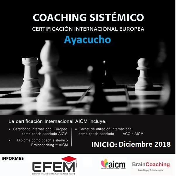 Coaching Sistémico. Ayacucho.  Certificación Europea AICM